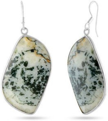 VelvetCase Elegant Gemstone Earrings Silver Drop Earring