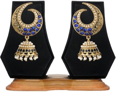 Zaveri Pearls Diamond Alloy Jhumki Earring