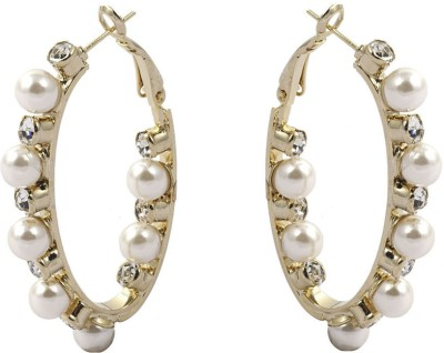 Gildermen GMEA4CKRR6 Cubic Zirconia Alloy Hoop Earring