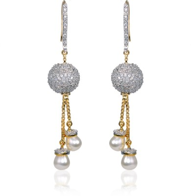 Fashion Fusion ES037001A Abeera Cubic Zirconia Brass, Alloy Dangle Earring