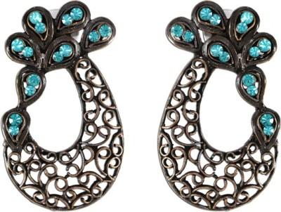 The Fine World Cutwork Type Zircon Metal Stud Earring