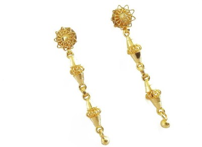 Gorgious Antique Brass Drop Earring