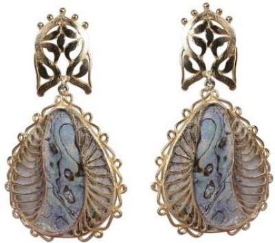 Amalaan Jewels Designer Mother of Pearl Brass Drop Earring