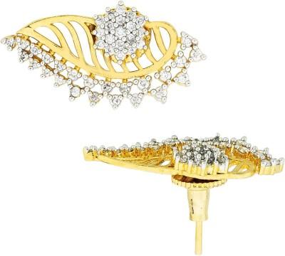 the jewelbox Flower Jacket Cubic Zirconia Brass Stud Earring