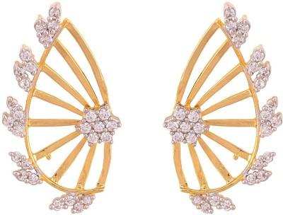 Prishi Impex Pankhi Cubic Zirconia Alloy Cuff Earring