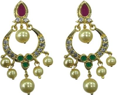 Sri Kapi Pearls FE125 Cubic Zirconia Alloy Chandbali Earring