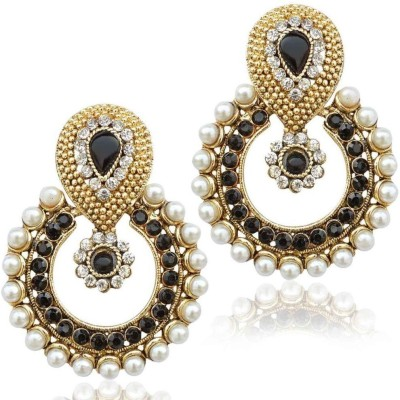 JDX American Diamond EarRing Bronze Chandbali Earring