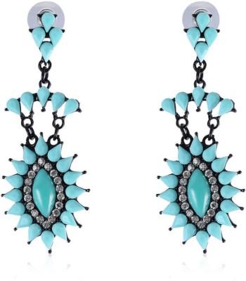 Vastradi Jewels Dazzling Brass, Alloy Drop Earring