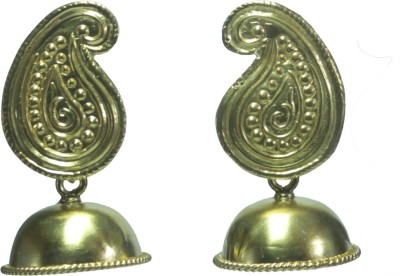 GnJ Golden Sterling Silver Jhumki Earring
