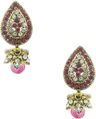 Taruni Taruni Pink Drop Earrings. Alloy Drop Earring