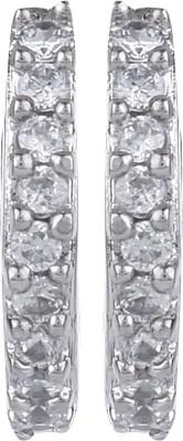 Dilan Jewels Silver Earings Zircon Alloy Hoop Earring