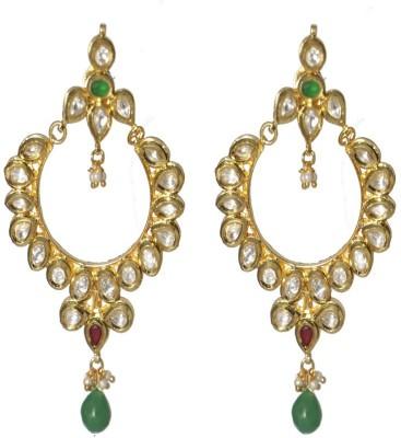 LE Kundan Alloy Chandbali Earring