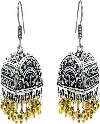 Gurjari E039KUMKHIS Beads Brass Jhumki Earring