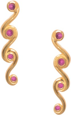 Kuhuk Precious Sparkles Ruby Silver Cuff Earring