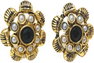 Fashion Pitaraa Black Beauty Copper Stud Earring