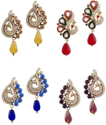 Buyclues RCCJ3405 Crystal Brass Earring Set