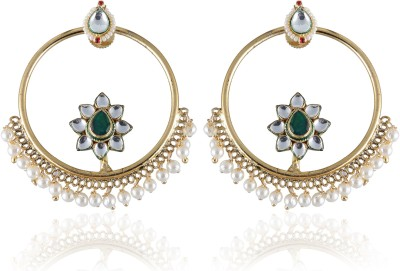 Vastradi Chandbali Style Brass, Alloy Dangle Earring