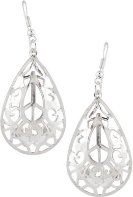 Castle Street Silver & Crystals Alloy Dangle Earring