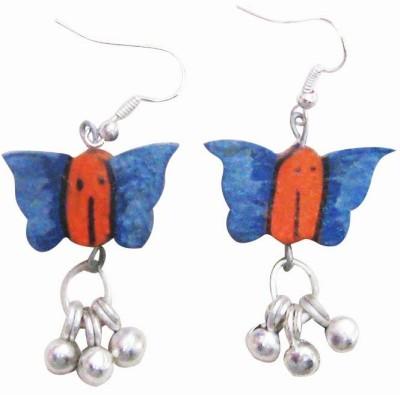 Juhi Malhotra Butterfly Fun Wood Dangle Earring