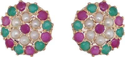 Janki Jewellers Princess Cubic Zirconia Alloy Stud Earring