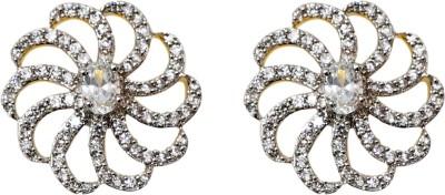 Sheetal Jewellery JCHT48_big Cubic Zirconia Brass, Alloy Stud Earring