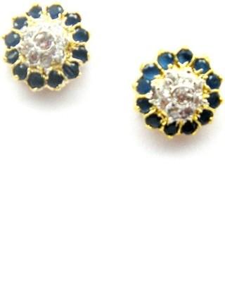 E-Designs TOP76GJ157-300 Cubic Zirconia Brass Stud Earring