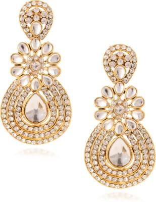 Fashionaya Glimmer Pearl Cubic Zirconia Alloy Drop Earring