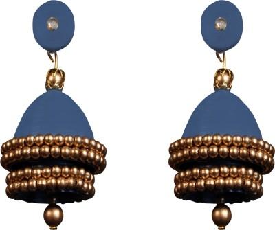 Scion Dark Blue Quilling Paper Jhumki Earring