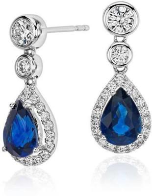 Joyra Dazzling Swarovski Zirconia Sterling Silver Drop Earring