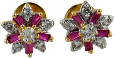 My Sara Earing for party in white color Brass Stud Earring
