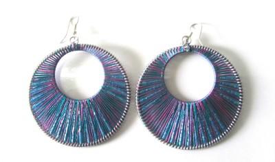 Peruvian Silk Thread Fabric Dangle Earring