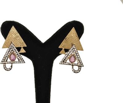 Arohi Jewells & Gems AJG11 Copper Earring Set