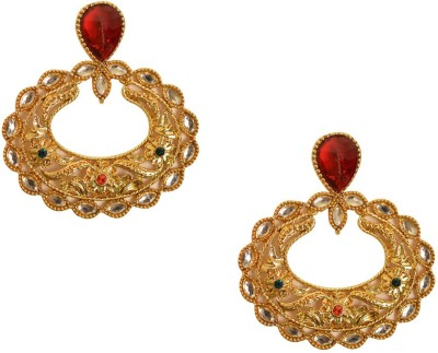Graykart Buy Antique Imitation Temple Jewellery Zinc Chandbali Earring