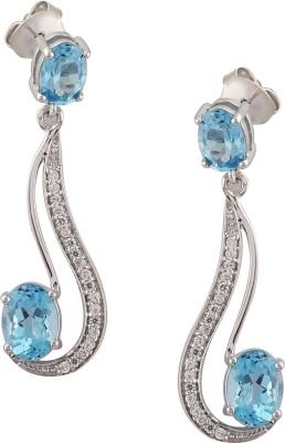 RR FOREVER Gemstone Topaz Silver Dangle Earring
