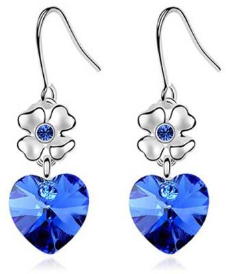 Womanwa Delicate Hearts Metal Dangle Earring