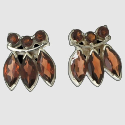 Aabhushan Aabhushajewels Garnet Sterling Silver Stud Earring