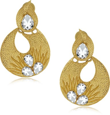 Spargz Fashion Design Hanging with AD Stone Alloy Drop Earring