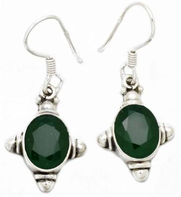 YugshaJewels Elegant YJE-1054 Emerald Sterling Silver Dangle Earring
