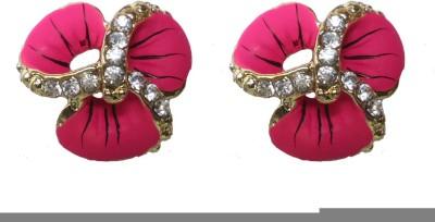 Modish Look Pink Small Tops Brass Stud Earring
