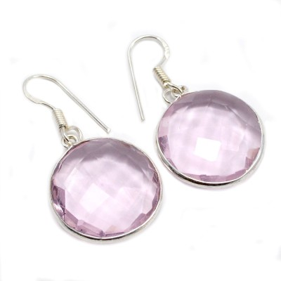 Silvesto India 1479 Quartz Sterling Silver Dangle Earring