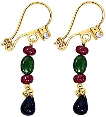 Surat Diamond Beads Ruby, Emerald, Sapphire Metal Clip-on Earring