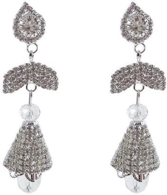 Kenza Designer Cubic Zirconia Alloy Jhumki Earring