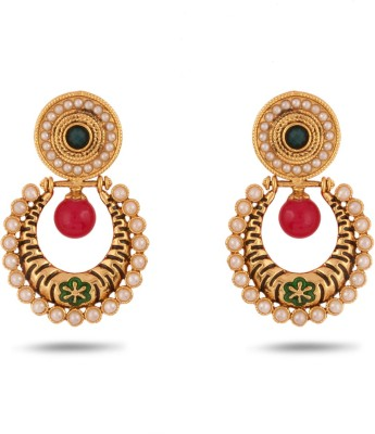 Adwitiya Collection Spring Sparkle Copper Dangle Earring