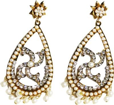 NEHASTORE Designer Gold Plated Long Earring Alloy Drop Earring
