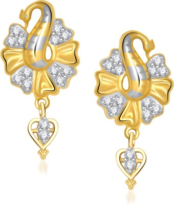 VK Jewels Admirable Mayur Cubic Zirconia Alloy Drop Earring