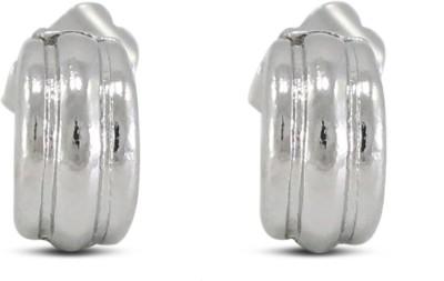 Fab Fashion Half Stainless Steel Stud Earring