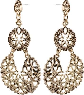 Golden Petals Sparkle I Alloy Dangle Earring