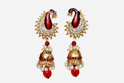 NM Products Maroon Copper Jhumki Earring