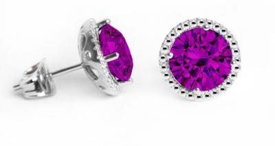 Glimmering Swarovski Crystal Alloy Stud Earring