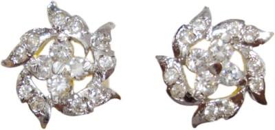 Paridhi Jewels Diamond flower earrings Cubic Zirconia Alloy Stud Earring